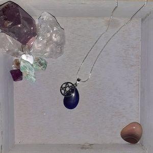 Healing Lapis Lazuli And Pentacle Necklace